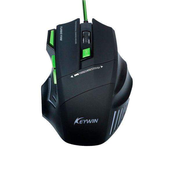 Проводная компьютерная мышь + коврик для мыши Keywin (набор)