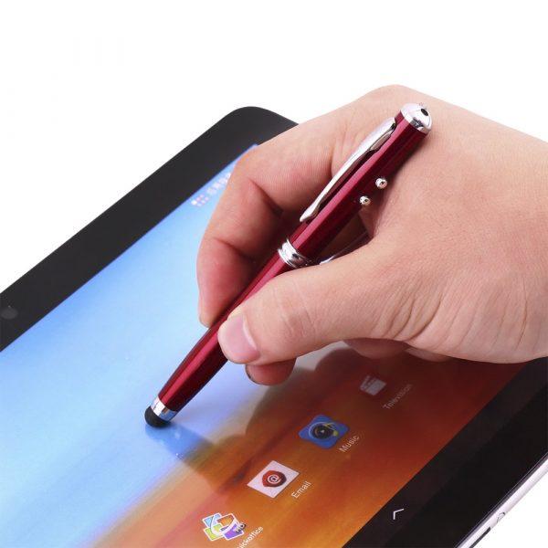 Шариковая ручка-указка с лазером и фонариком 4 в 1