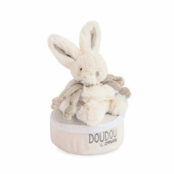 Шкатулка музыкальная «Кролик бежевые ушки» Doudou Bonbon