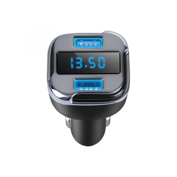 Зарядка в прикуриватель с подсветкой, вольтметром и GPS трекером