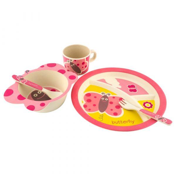 Бамбуковая посуда «Бабочка»