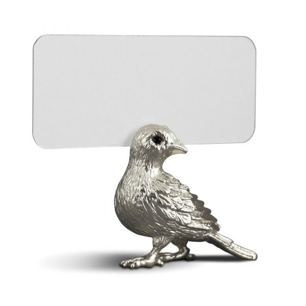 Держатель для визиток L'Objet «Bird» платиновый