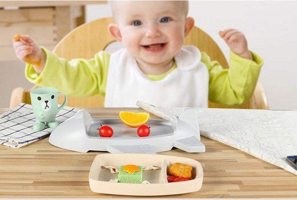 Детская тарелка из бамбукового волокна «Самолет»