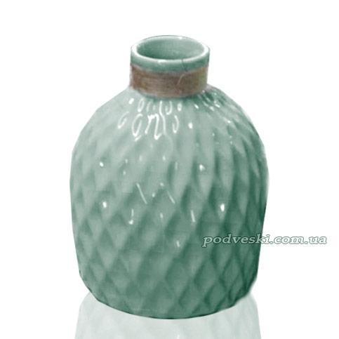 Керамическая ваза из коллекции «Алхимия» Eterna бирюзовая