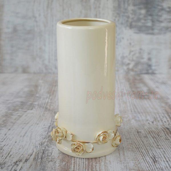Керамическая ваза «Офелия» с золотом