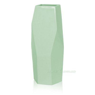 Керамическая ваза «Полигональная» green