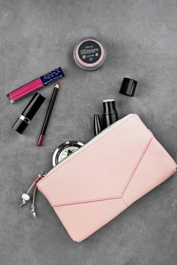 Кожаная косметичка «Sofi» Pink
