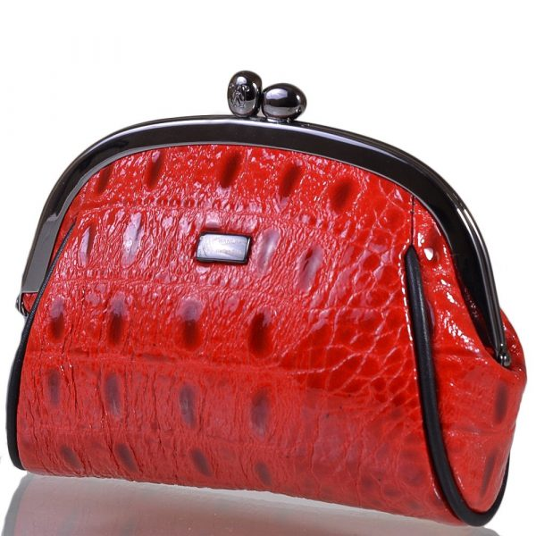 Косметичка женская кожаная WANLIMA (red)