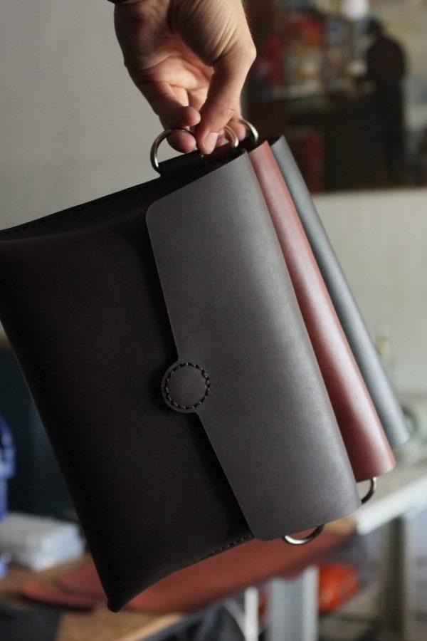 Кожаная сумка «Cross-body»