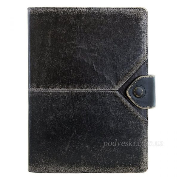 Кожаный ежедневник Privilege «Бомбер» черный