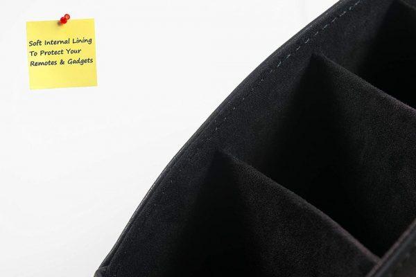 Кожаный органайзер для пультов (черный)