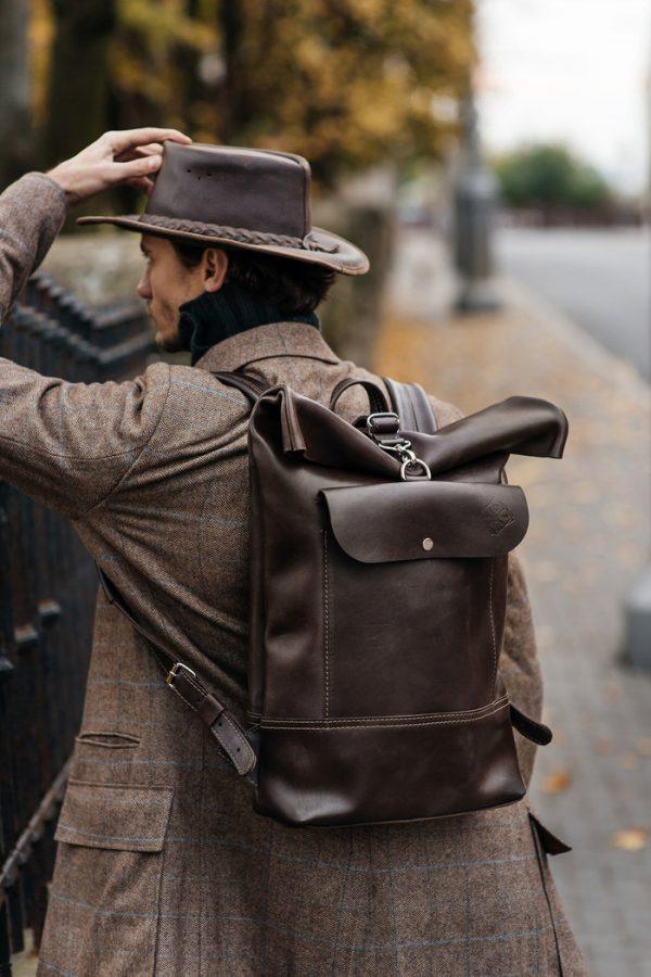 Кожаный рюкзак «Roll»