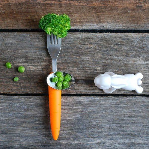 Ложка и вилка «Snack Rabbit Nesting» Fred and Friends