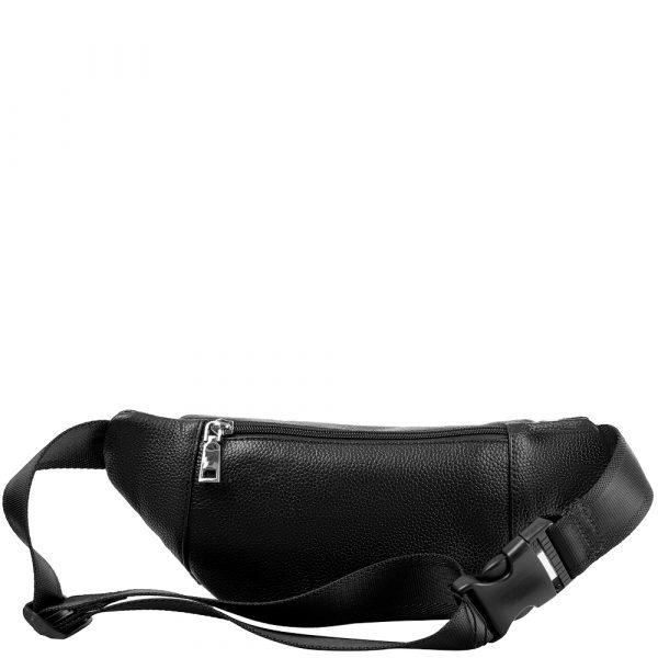 Мужская кожаная поясная сумка VITO TORELLI (black)