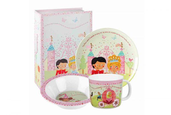 Набор детский Churchill Little Rhymes «Золушка» (3 предмета в подарочной упаковке)