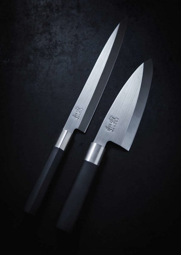 Набор из 3-х японских ножей KAI WASABI Black