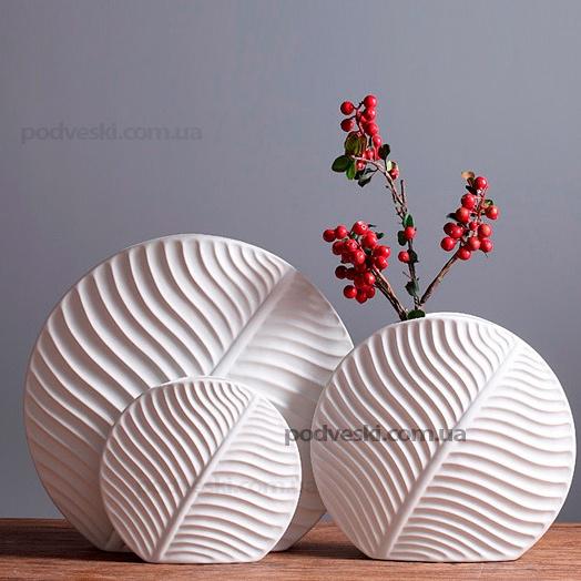 Набор керамических ваз «Flora White Set» Eterna