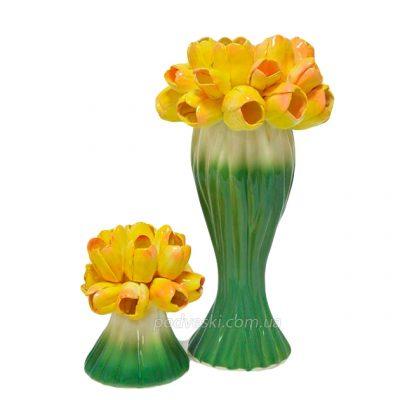 Набор керамический «Лира Тюльпан»: ваза и подсвечник