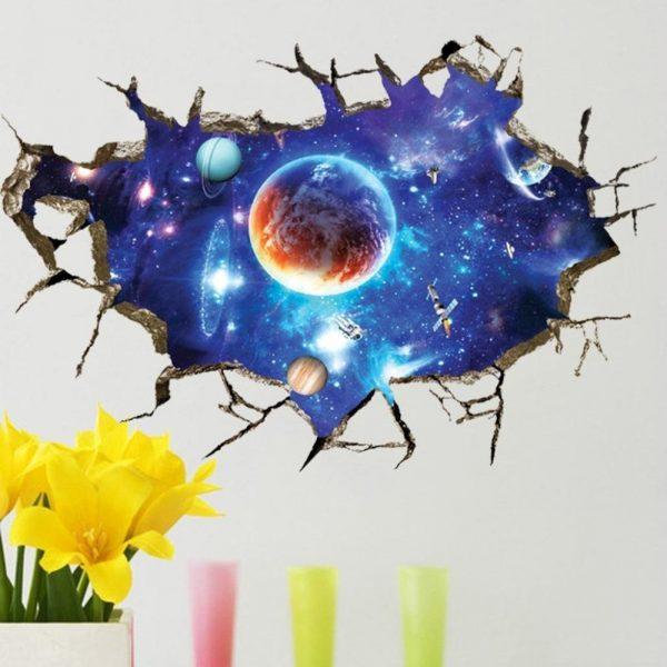 Настенная наклейка в детскую «Космос»