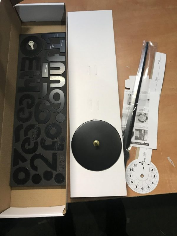 Настенные 3D часы с буквами DIY (Do It Yourself, сделай сам) чёрные