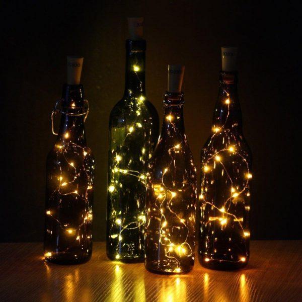 Огоньки для бутылок