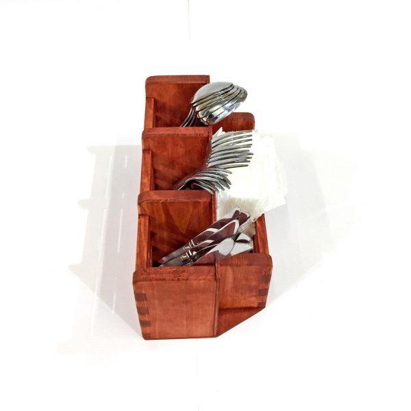 Подставка для столовых приборов «Салиера» коралл