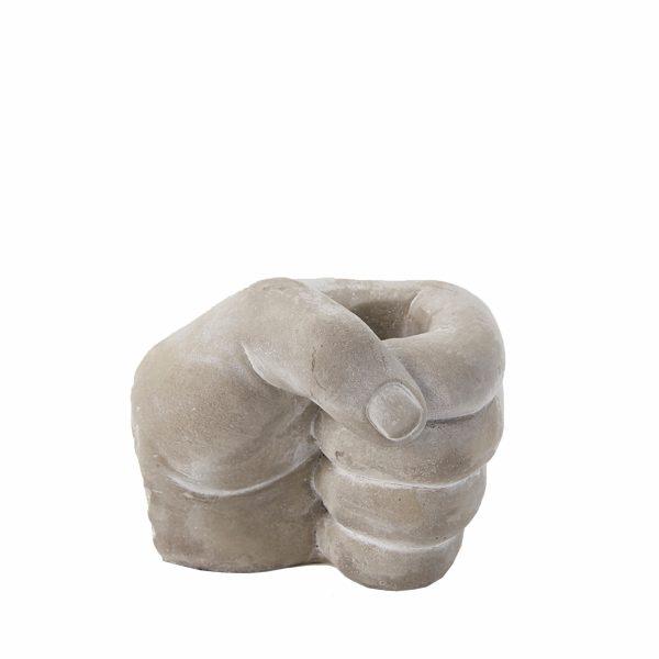 Подсвечник керамический «Рука» EDG