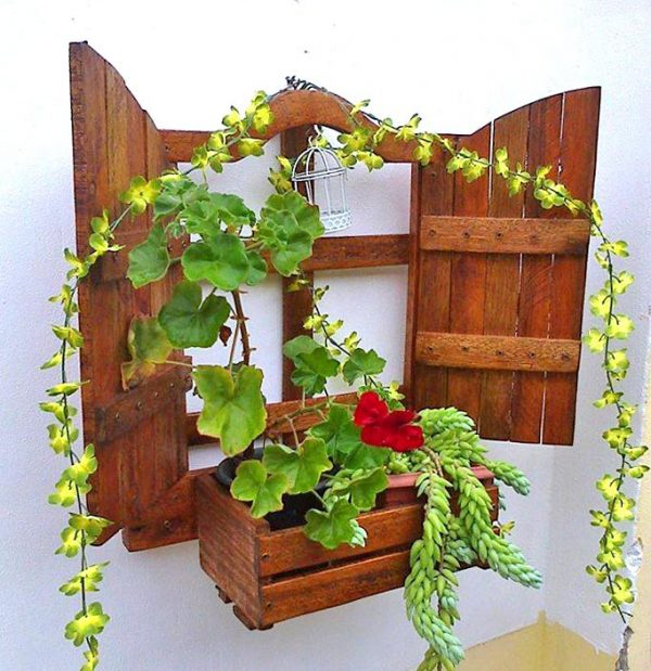 Полка настенная для цветов «Сан-Гонсалу» капучино