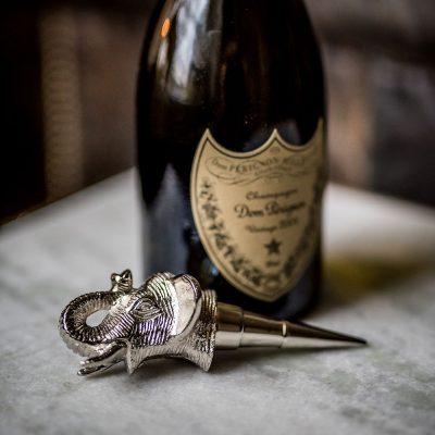 Пробка для бутылки Culinary Concepts «Слон» посеребренная