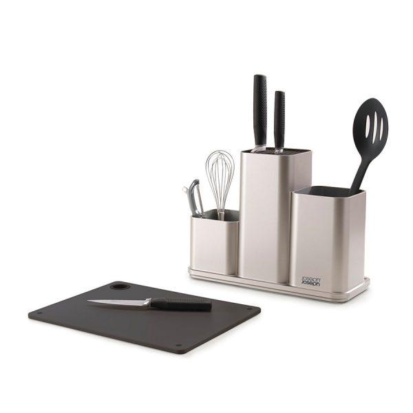 Кухонный органайзер с разделочной доской Joseph Joseph «CounterStore» серебристый