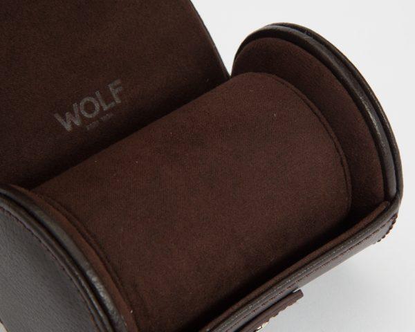 Шкатулка-ролл для часов «Blake» Wolf коричневый