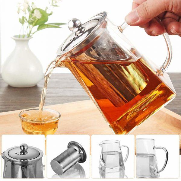 Стеклянный заварочный чайник для чая