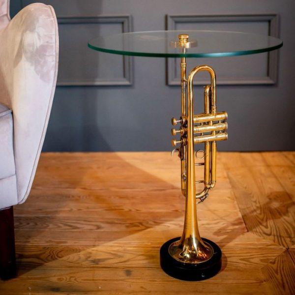 Столик «Музыкальная труба» Culinary Concepts золотая
