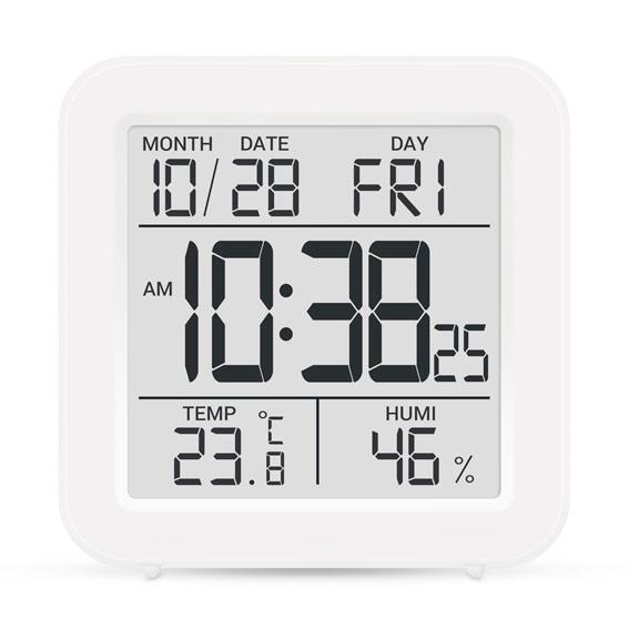 Термометр-гигрометр электронный T-15 белый