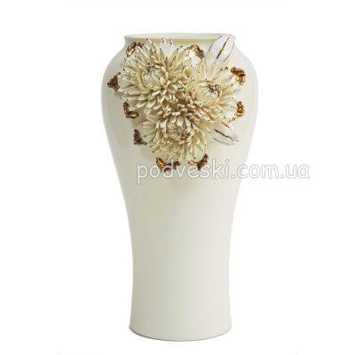 Ваза керамическая «Хризантема» золото