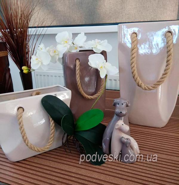 Ваза-сумка керамическая Eterna