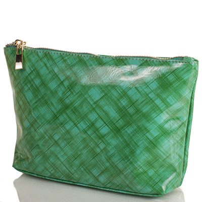Женская косметичка из качественного кожзаменителя VALENTA (зеленая)