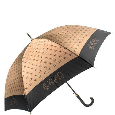 Зонт-трость женский полуавтомат «Три слона» /