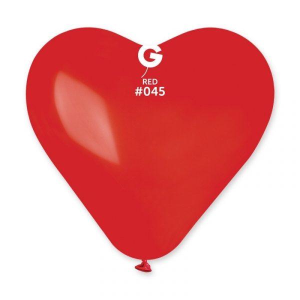 Воздушный шар «Сердце» (красный/пастель)