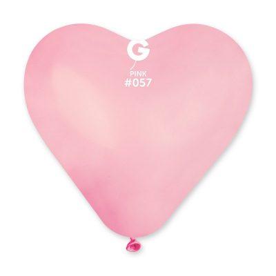 Воздушный шар «Сердце» (розовая пастель)
