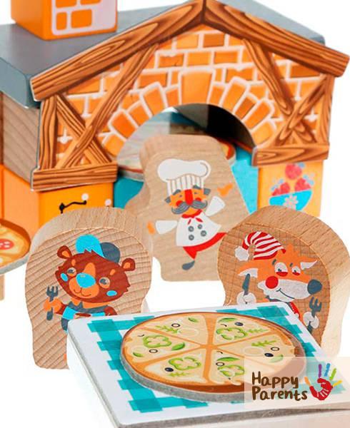 Деревянный детский конструктор «Пиццерия»