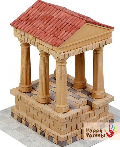 Керамический конструктор из кирпичиков «Римский храм»