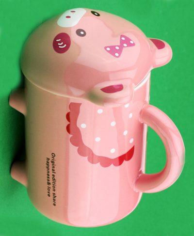 Чашка с ножками «Свинка» Cinaya