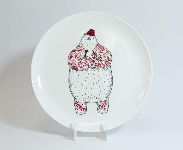 Тарелка PAPAdesign «Голодный Мишка»