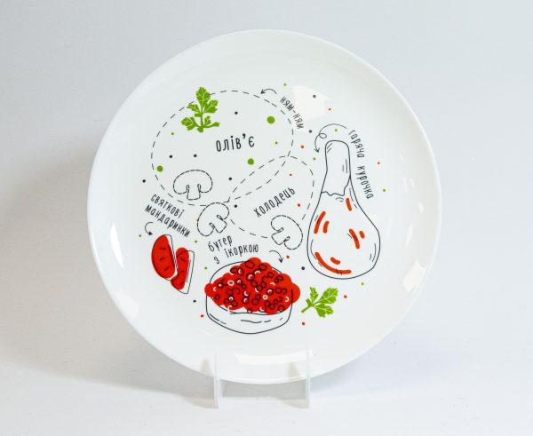 Тарелка PAPAdesign «Схема еды»