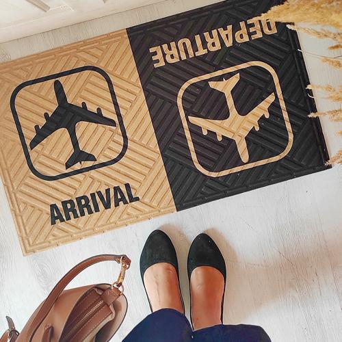 Коврик придверный с принтом «Arrival Departure»