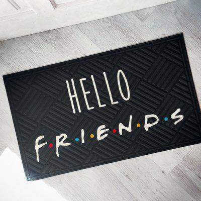 Коврик придверный с принтом «Hello friends»
