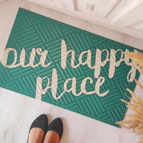 Коврик придверный с принтом «Our happy place»