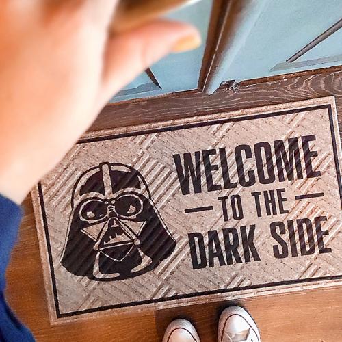 Коврик придверный с принтом «Welcome to the dark side»