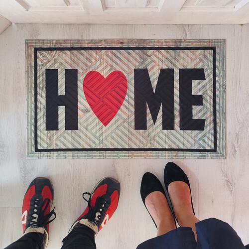 Коврик придверный с принтом «Home»